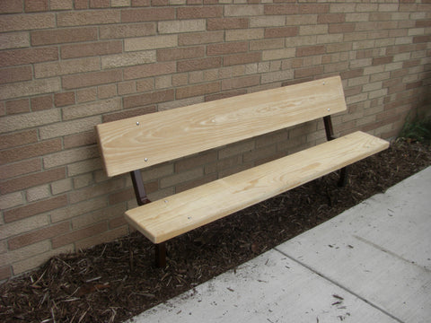 Stationary Heavy Duty Park Bench - LUMBER