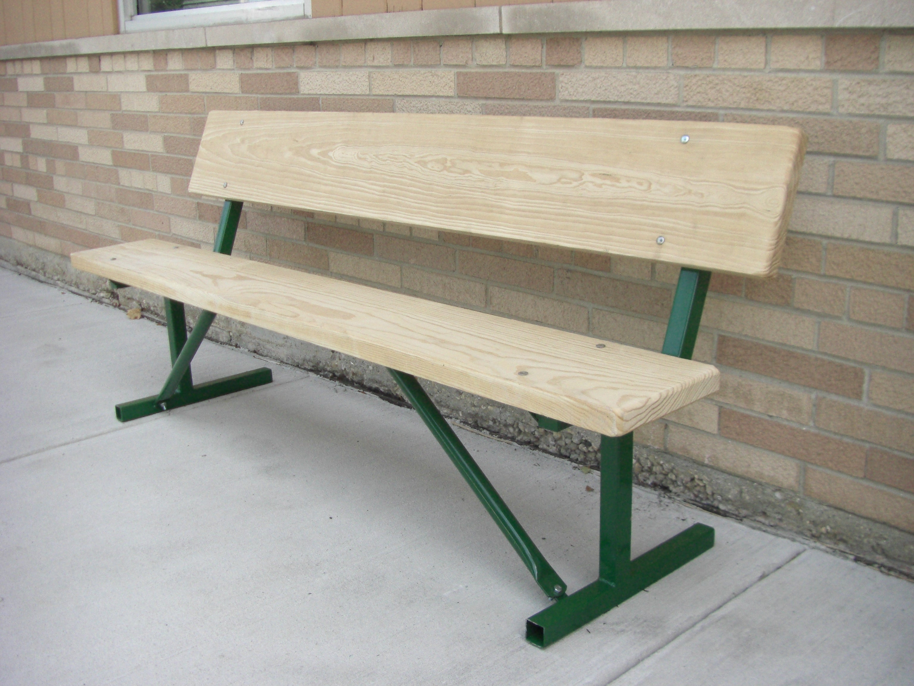 Stationary Standard Park Bench - LUMBER