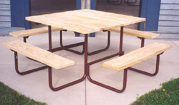 Square Table - UNTREATED Lumber