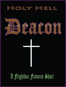 "Short film poster with ""Deacon"" logo with white cross and green lettering"