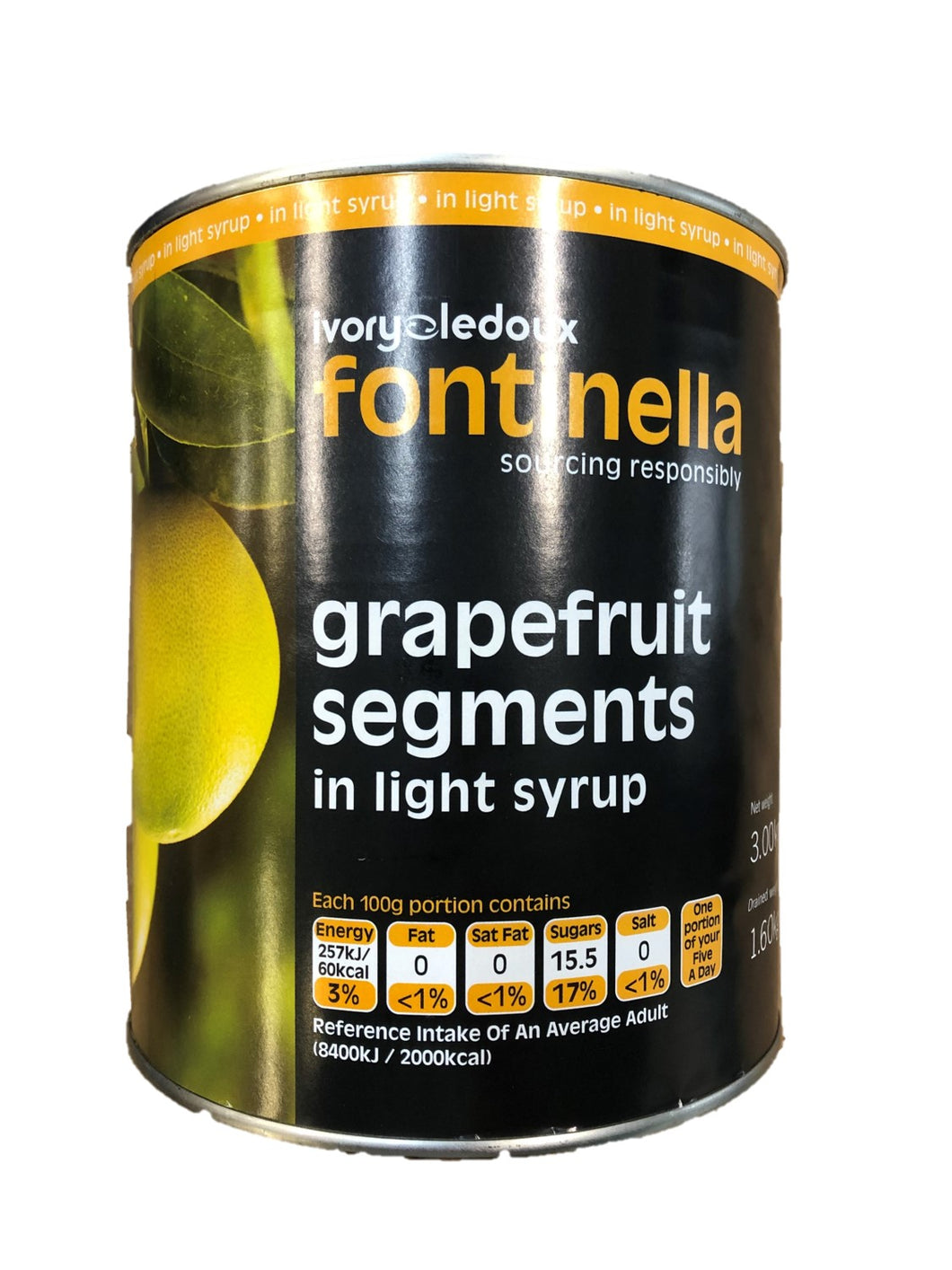 Tinned Grapefruit Segments (juice) 2.6kg