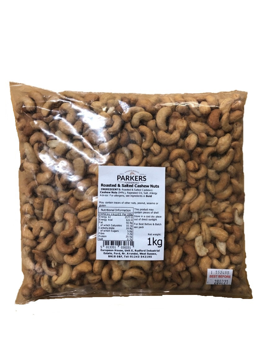 Roasted & Salted Cashew Nuts 1Kg