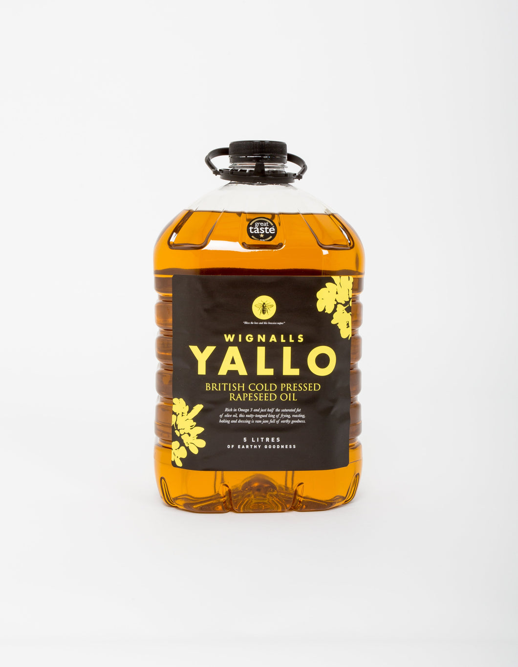 Wignalls Yallo Cold Pressed Extra Virgin Rapeseed Oil 5ltr