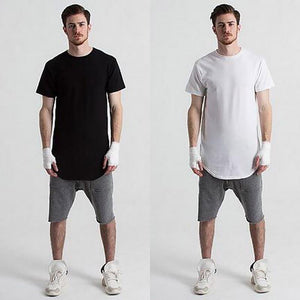 Fashion Short-sleeved Solid Color Base Round Cotton T-Shirts