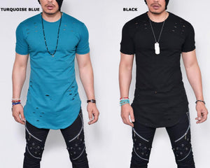 Fashion Short Sleeve Round Neck Hollow Out T-Shirts