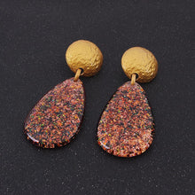 Load image into Gallery viewer, Personalized Simple Drop Resin Earrings