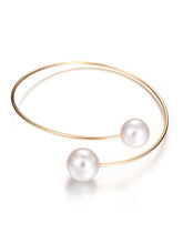 Load image into Gallery viewer, Simple Pearl Cuff Bracelet