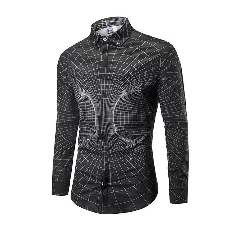 Prime Fashion Mens Shirt-Space