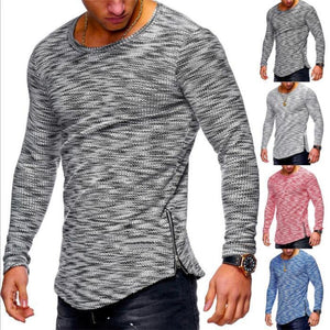 Striped Zip Hem T-Shirts