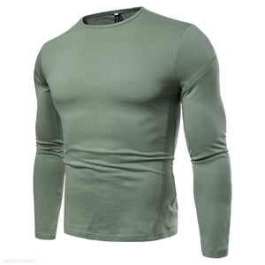 Solid Color Casual Long Sleeve