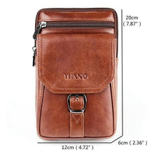 Load image into Gallery viewer, Large Capacity Genuine Leather Vintage Multi-Functional Phone Bag Waist Bag Crossbody Bag For Men