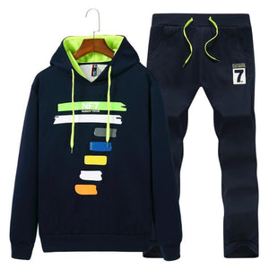 Men Hooded Printed Sport Wear