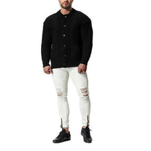 Load image into Gallery viewer, Casual Fashion Mens  Thermal Button Long Sleeve Sweater Outerwear