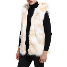Load image into Gallery viewer, Men's Fashion Faux Fur Hat Vest Long Section