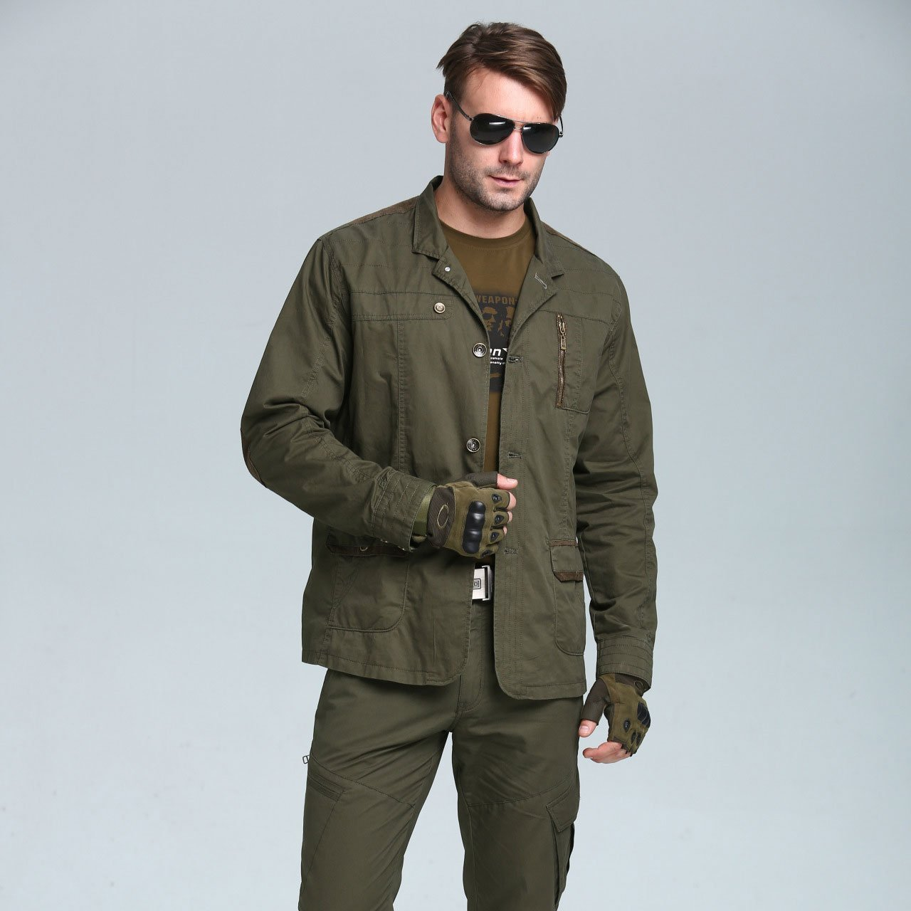 Fashion Lapel Collar Zipper Loose Outdoor  Jacket