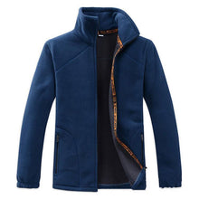 Load image into Gallery viewer, Fashion Lapel Collar Plain Zipper Thicken Old Man Coat