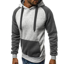 Load image into Gallery viewer, Fashion Mens Casual Splice Hoodie