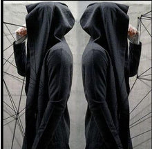 Load image into Gallery viewer, Casual Wizard Balck Loose Cloak Coat
