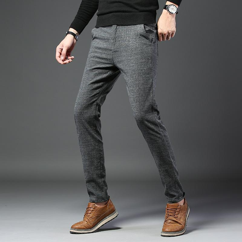 Casual Business Check Slim Check Pants