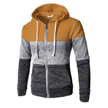 Load image into Gallery viewer, Fashion Sport Color Block Long Sleeves Fleece Thick Hoodie