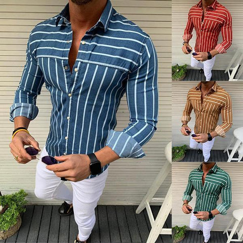 Men's Fashion Minimalist Striped Shirt