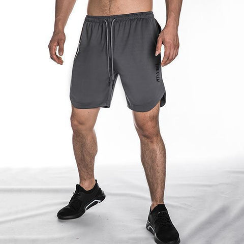 Sporty Large Size Quick Drying Straight Casual Shorts