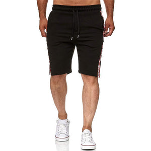 Men's Slim-Fit Contrast Color Webbing Shorts Pants