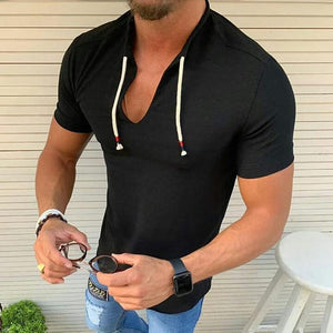 Stylish Slim Solid Color T-Shirt