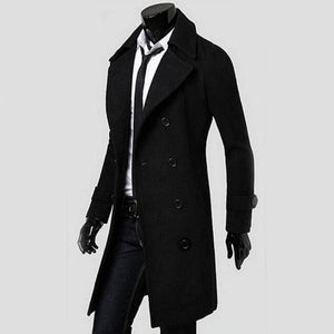 Men Top Quality Cotton Overcoat