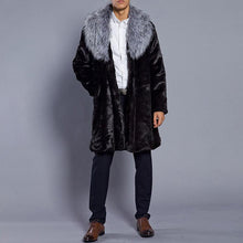 Load image into Gallery viewer, Warm Men's Winter Faux Fur Overcoat Jacket