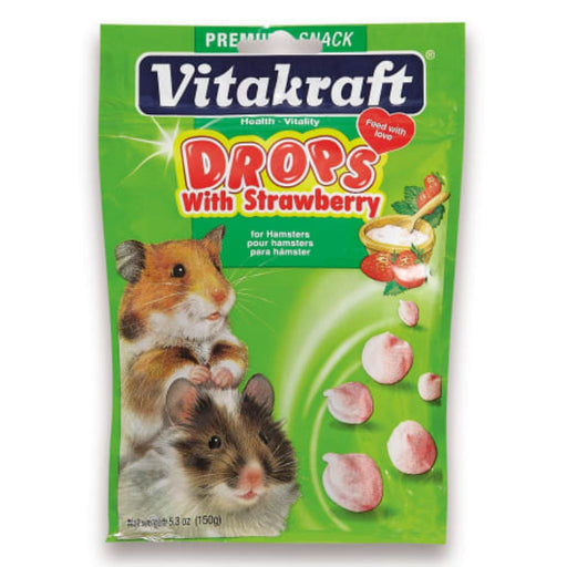 Vitakraft Hamster Drops Treat with Strawberry 5.3oz
