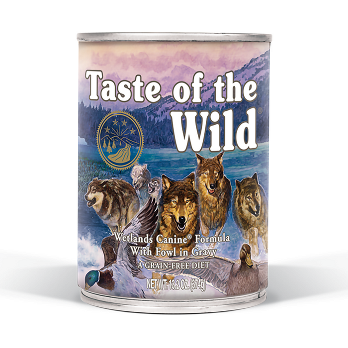Taste of the Wild Grain Free Wetlands Canned Dog Food 13.2-oz, case of 12