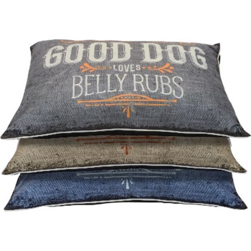 Good Dog Graphic Pillow Bed Assorted