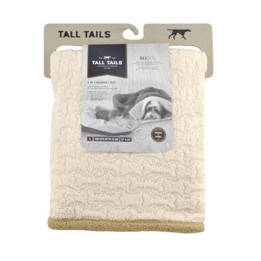 TALL TAILS 3 In 1 Bed - SMALL 23X23 CREAM BONE SHERPA