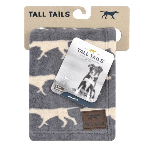 Tall Tails Fleece Blanket Charcoal Icon 30x40