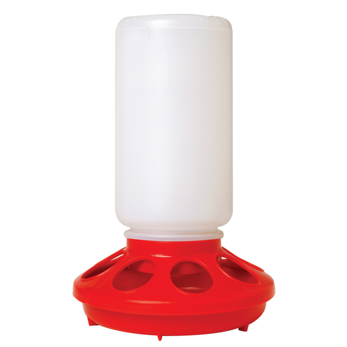 Chick Feeder Plastic Base Red For 1 Qt Jar