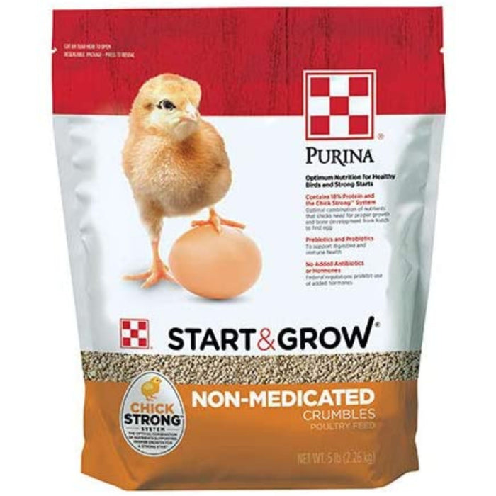 Purina Start and Grow Non-Medicated Chick Feed Crumbles
