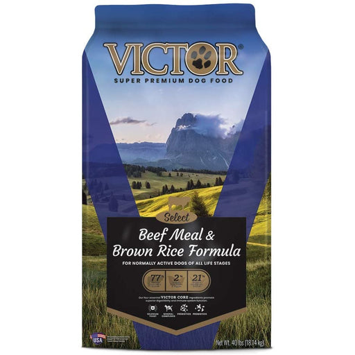 Victor Select - Beef Meal & Brown Rice, Dry Dog Food 40lb