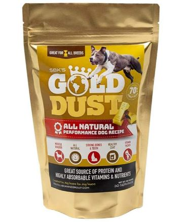 SBK'S Gold DUST High Protein Supplement for All Breeds of Canines- 30 Servings
