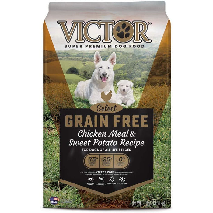 Victor Select - Grain Free Chicken Meal & Sweet Potato, Dry Dog Food 30lb