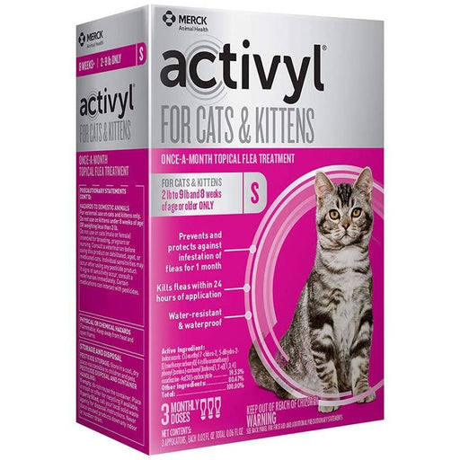 Activyl Cat 2-9lb Small 3 Month