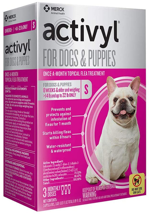 Activyl Dog 14-22lb Small 3 Month
