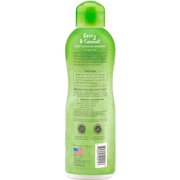 Shampoo Tropiclean Deep Cleansing Berry & Coconut 20oz