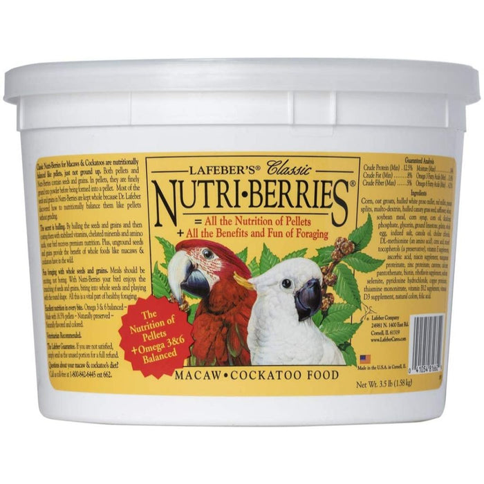 Lafeber's Nutri-Berries Macaw & Cockatoo Food 3.5lb