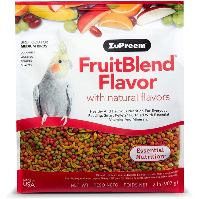 ZuPreem FruitBlend Premium Bird Diet for Medium Birds