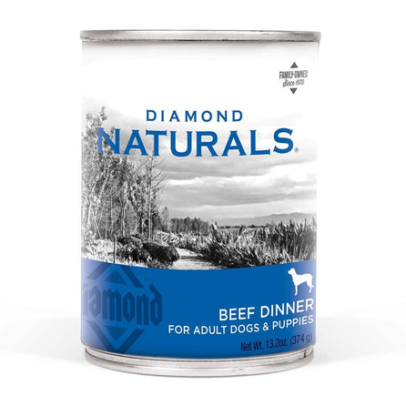 Diamond Naturals Beef & Rice Can 13oz 12ct