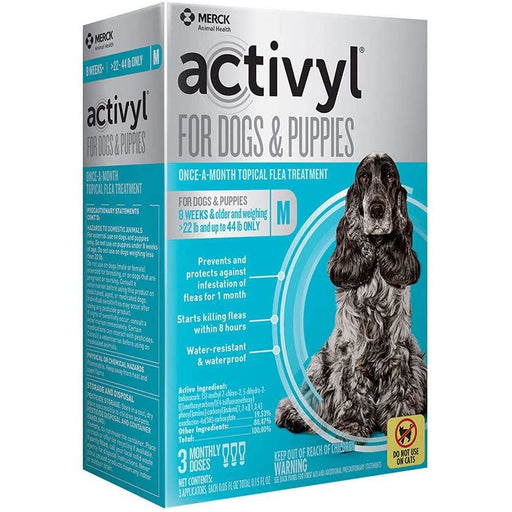 Activyl Dog 22-44lb Medium 3 Month
