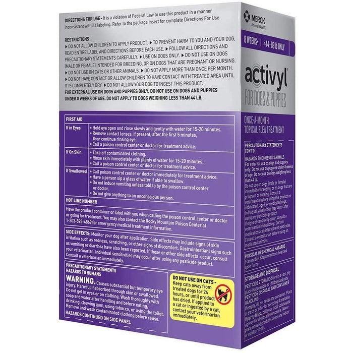 Activyl Dog 44-88lb Large 3 Month