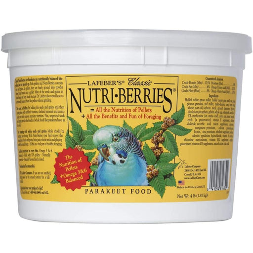 Lafeber's Classic Nutri-Berries Parakeet Bird Food 12.5oz