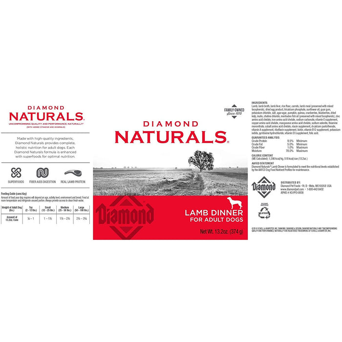 Diamond Naturals Lamb & Rice Can 13oz 12ct